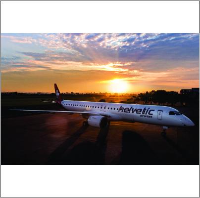 Helvetic Airways recebe seu primeiro Embraer E195-E2