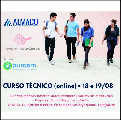 Purcom patrocina curso da ALMACO dedicado a alunos da Unicamp Compósitos